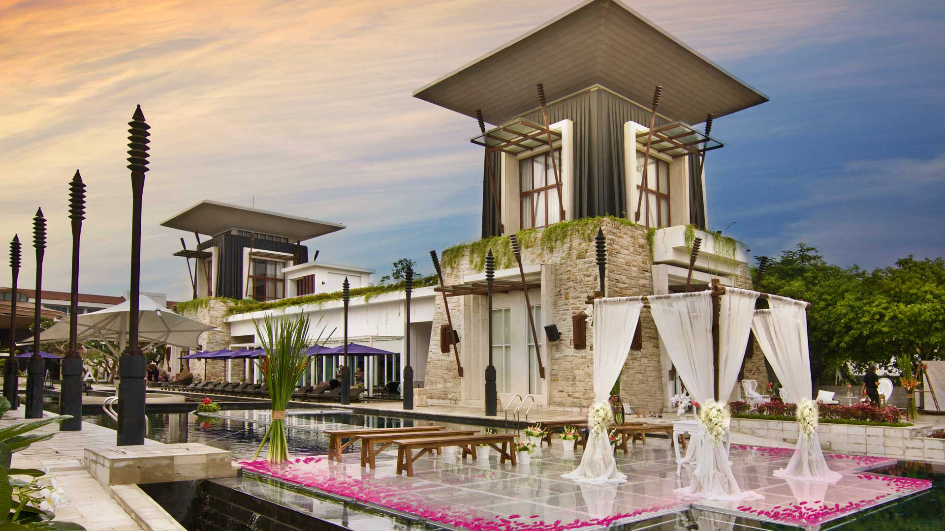 Water Wedding in Bali at The Sakala Resort Bali