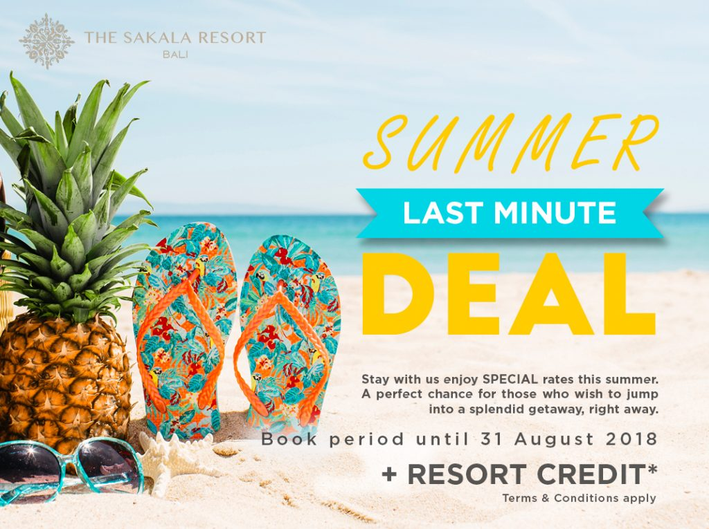 Summer Best Bali Hotel Deals - The Sakala Resort Bali